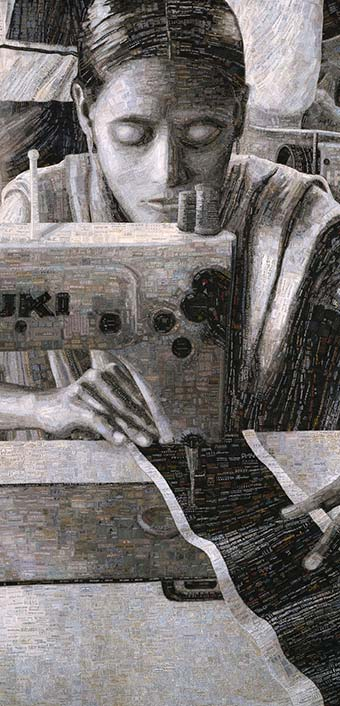 Portrait of a  Textile Worker detail